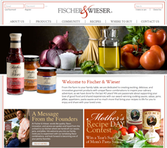 Fischer and Wieser site screenshot
