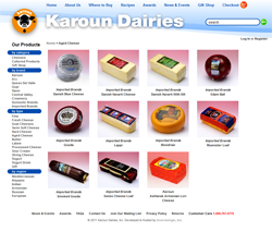 Karoun Cheese site screenshot