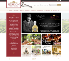 Mission Liquor site screenshot