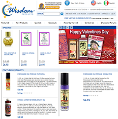 Wisdom Products site screenshot