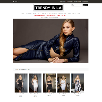 Trendy in LA site screenshot